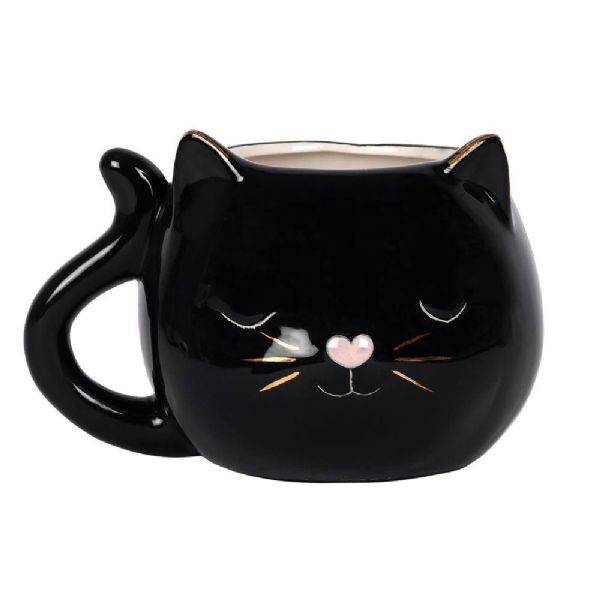 Black Cat China Mug